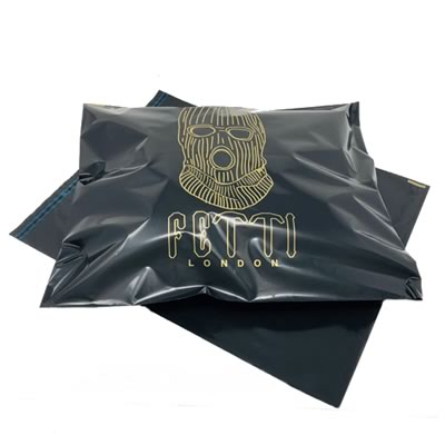 Full Black Mailing Bag with Gold Logo