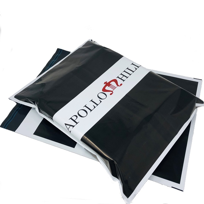 Bold Black and White Branded Mailing Bag