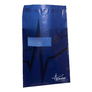 Blue Printed Mailing Bag with Address Window