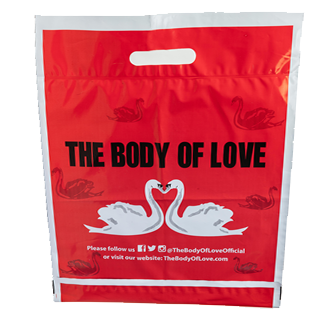 Click and Collect Red Bag with Carry Handle